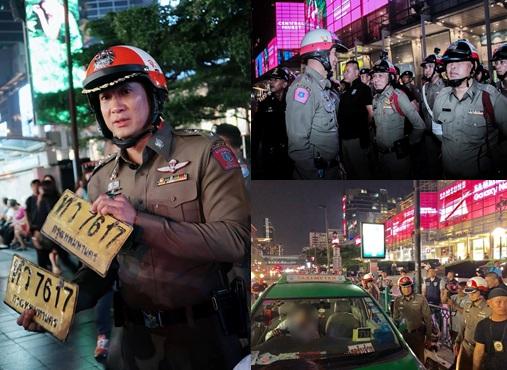 พ.ต.อ.นิธิธร จินตกานนท์ รรท.ผบก.จร.ลุยตรวจจับกุมแท็กซี่ปฏิเสธการรับผู้โดยสาร