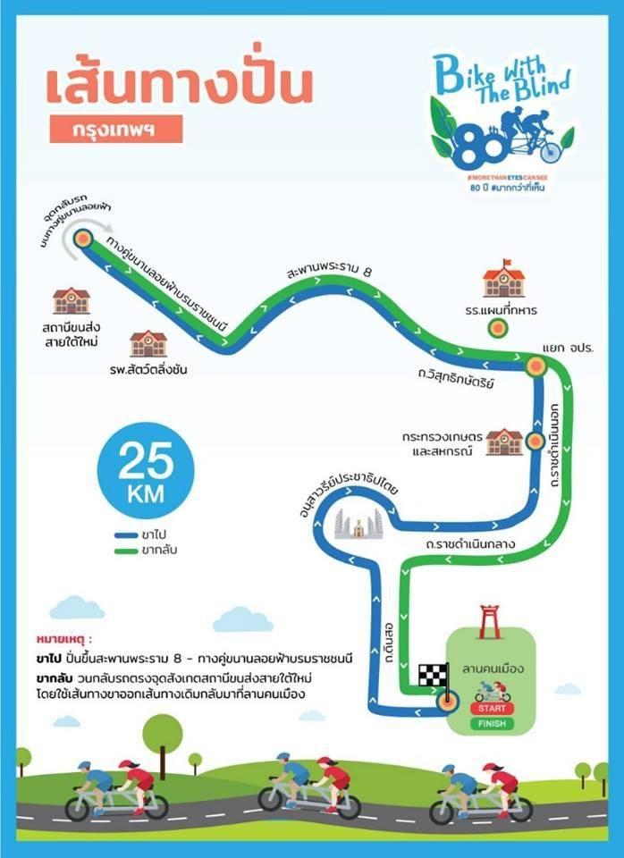 """7 ก.ค.62 กิจกรรม """"Bangkok Bike with the Blind ปั่นลอยฟ้า@ สะพานพระราม 8"""""""