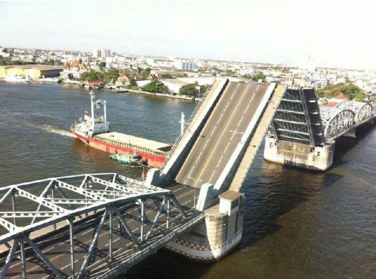 15 ส.ค.62 เวลา 09.00น. ปิดการจราจรบนสะพานกรุงเทพ เพื่อเปิดให้เรือผ่าน 15 นาที