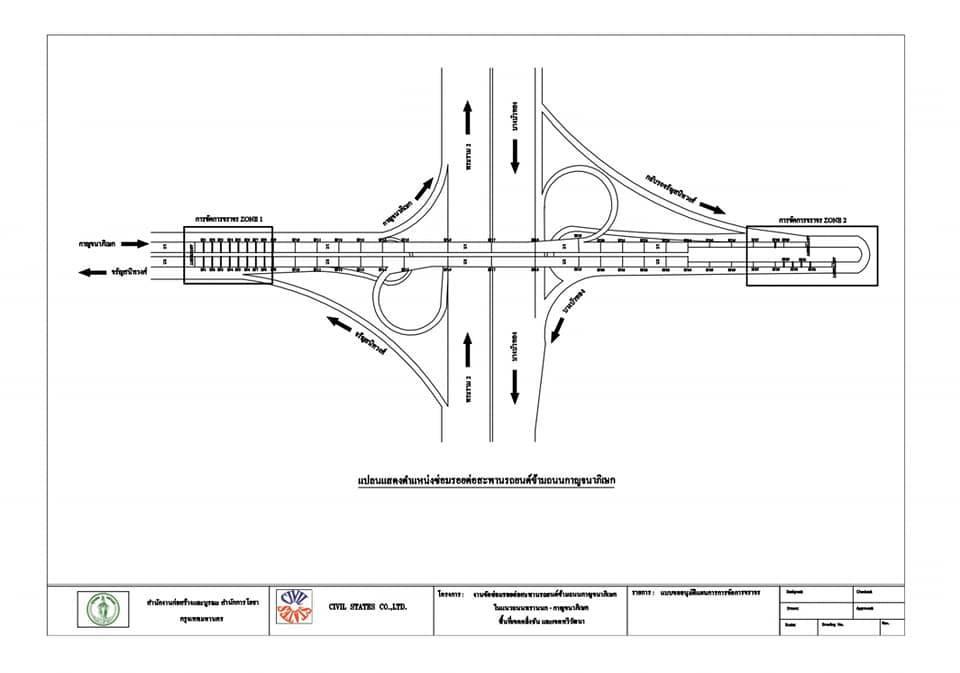 23 ก.ย. - 3 ต.ค. 62 ปิดการจราจร สะพานข้ามถนนกาญจนาภิเษก เพื่อซ่อมลอยต่อคอสะพาน