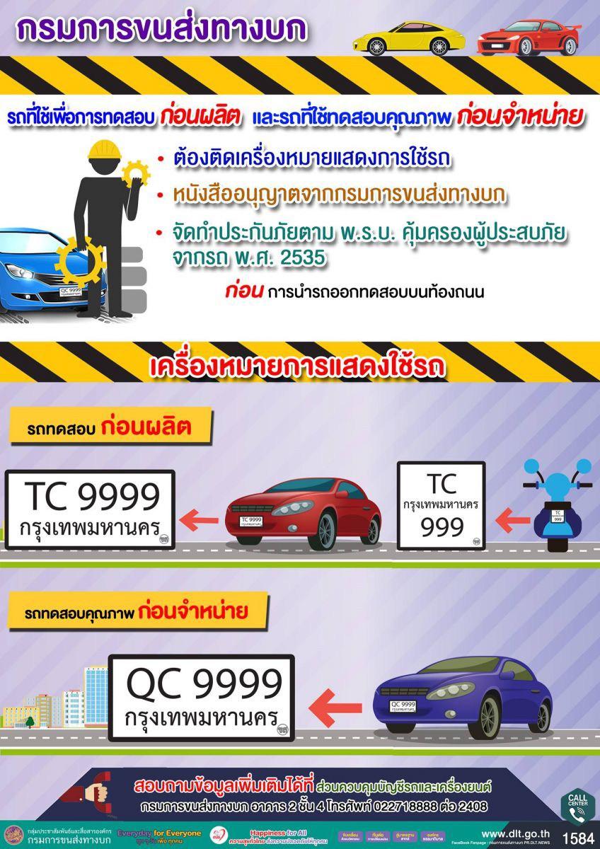 ทำความรู้จักทะเบียน TC และ QC กันดีกว่า ว่าเอาไว้ใช้ติดรถอะไร